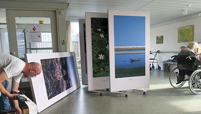 Støjdæmpende naturbilleder på Fanø Plejehjem