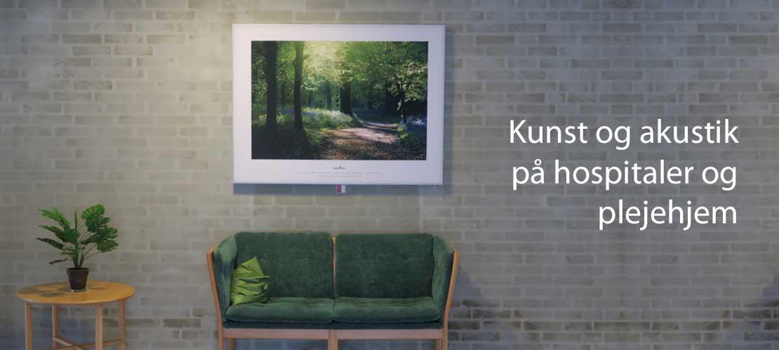 Lyddæmpende billeder og skærmvægge til hospitaler og plejehjem