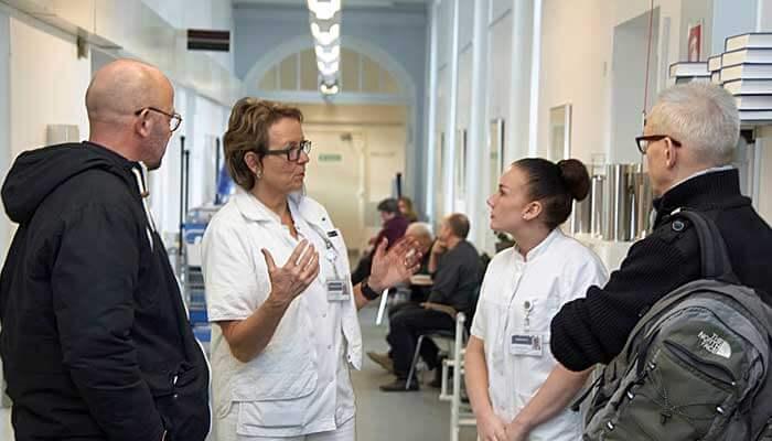 Sonovision konsulenter på besøg på Odense Universitets Hospital