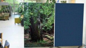 Skærmvægge 120×180 cm med fulddækkende motiv