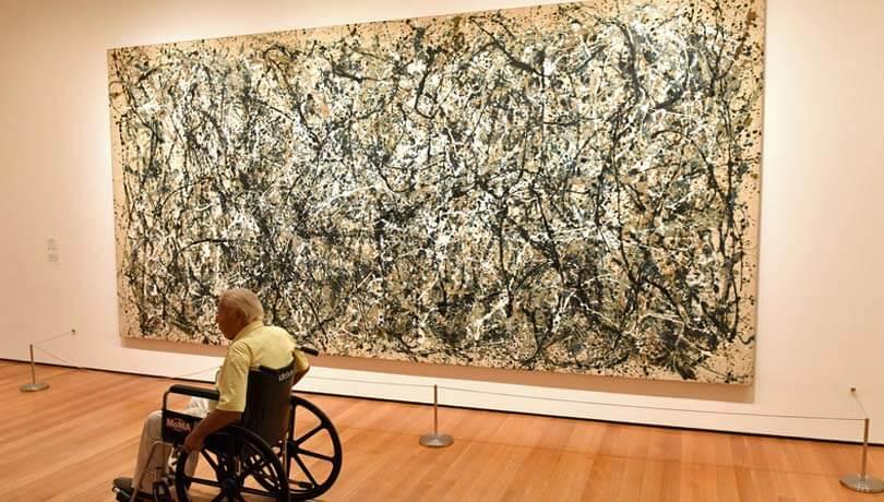 Er abstrakt kunst sundt for psykiatriske patienter?