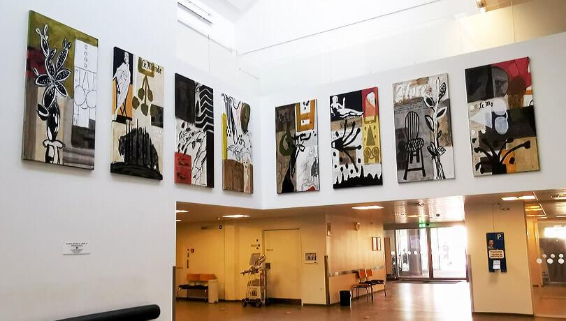 Kunst i modtagelsen på FAM, Odense Universitets Hospital