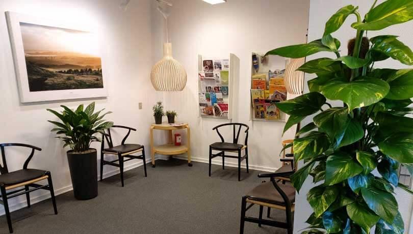 Planter og kunst i venteværelset