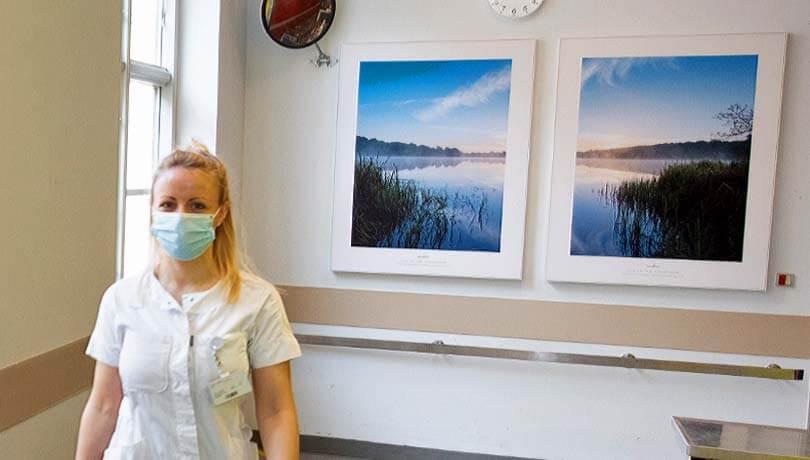 Desinficerbare billeder på operationsgangen