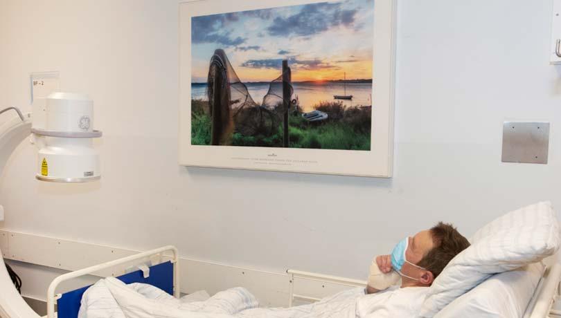 Beroligende billede på operationsgang på Nordsjællands Hospital