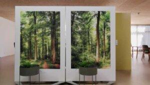 Trennwände 120x180 cm mit ganzem Motiv und weißem Rand / 2-teilig